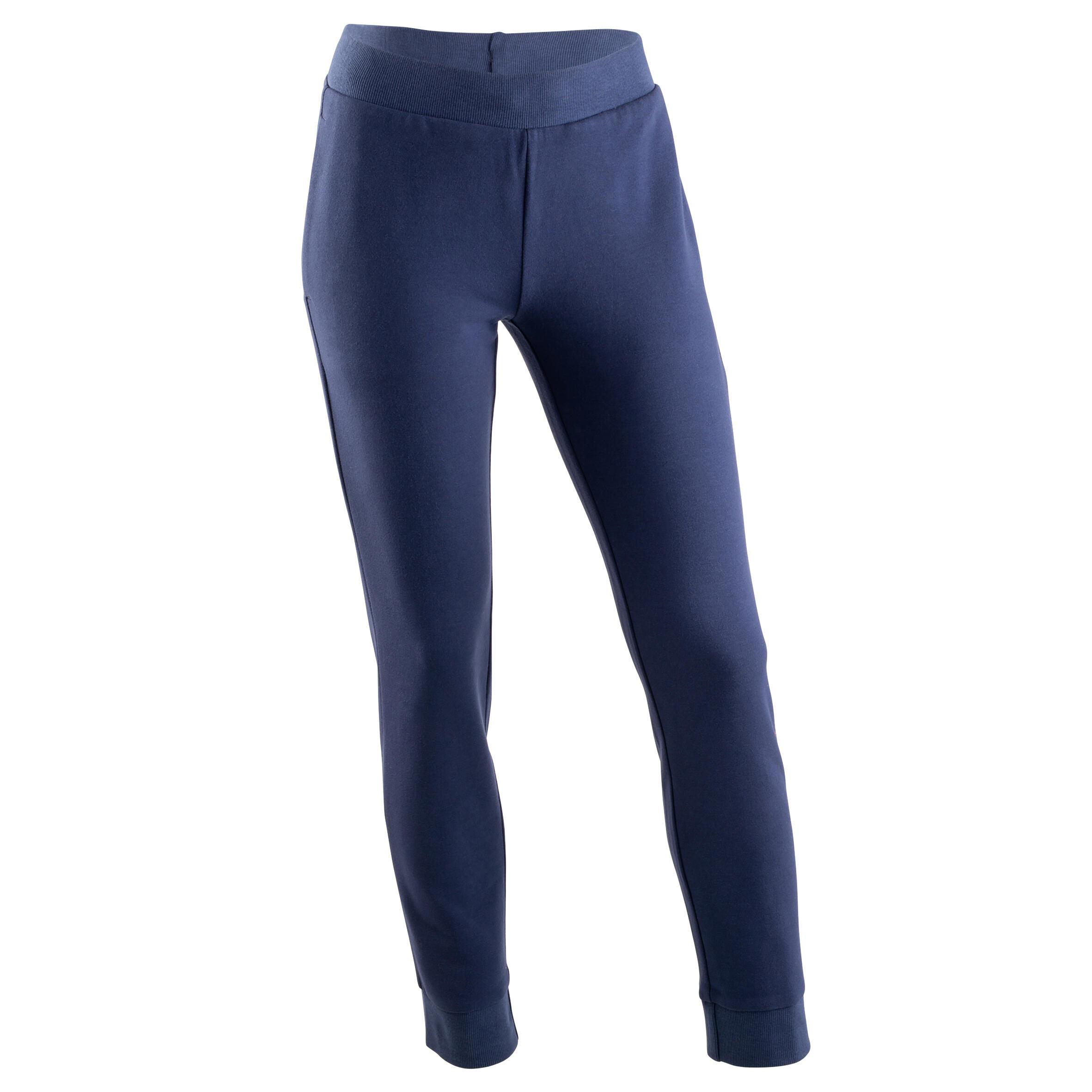 Pantalon 100 bleumarin fete imagine