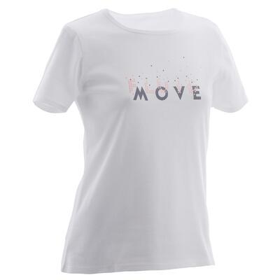T-Shirt 100 girl GYM blanc PR