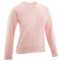 Camisola de Ginástica de Gola Redonda CRIANÇA Rosa