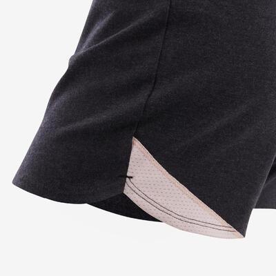 Girls' Breathable Shorts - Grey/Pink