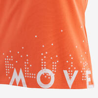 T-shirt basique enfant imprimé graphique corail
