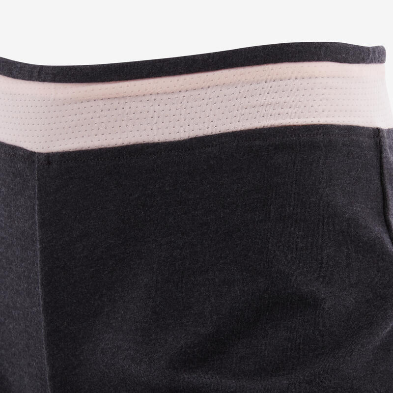 Girls' Breathable Shorts - Grey/Pink