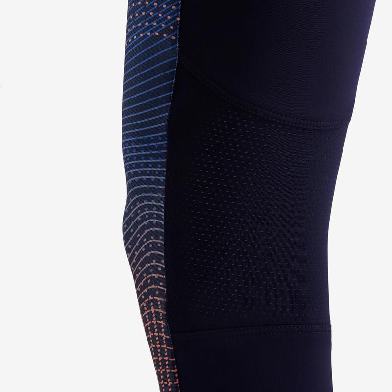 Legging synthétique respirant imprimé navy fille