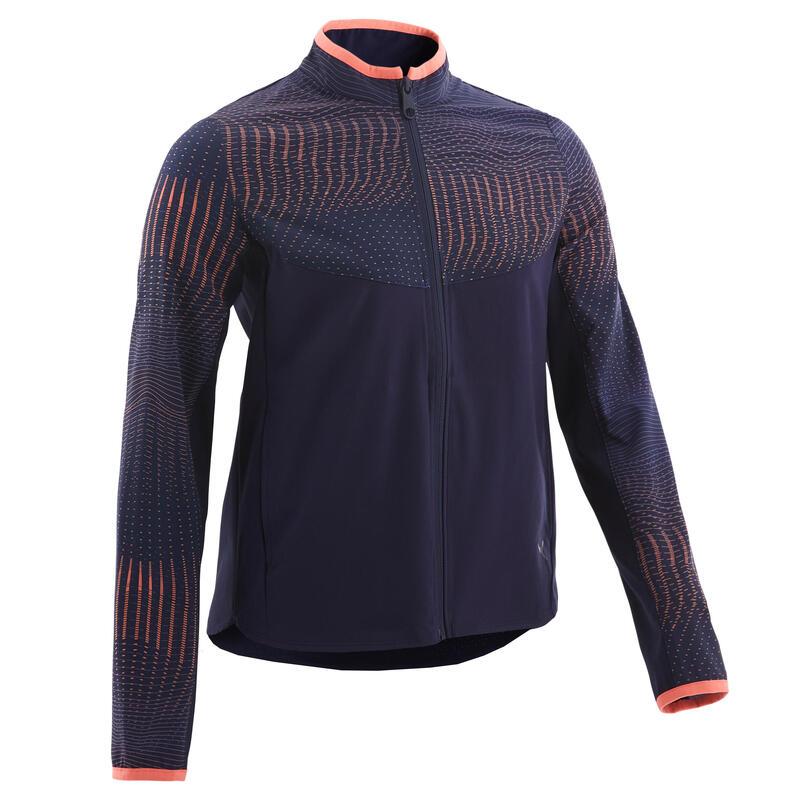 Girls' Lightweight Zip-Up Jacket - Blue/Print