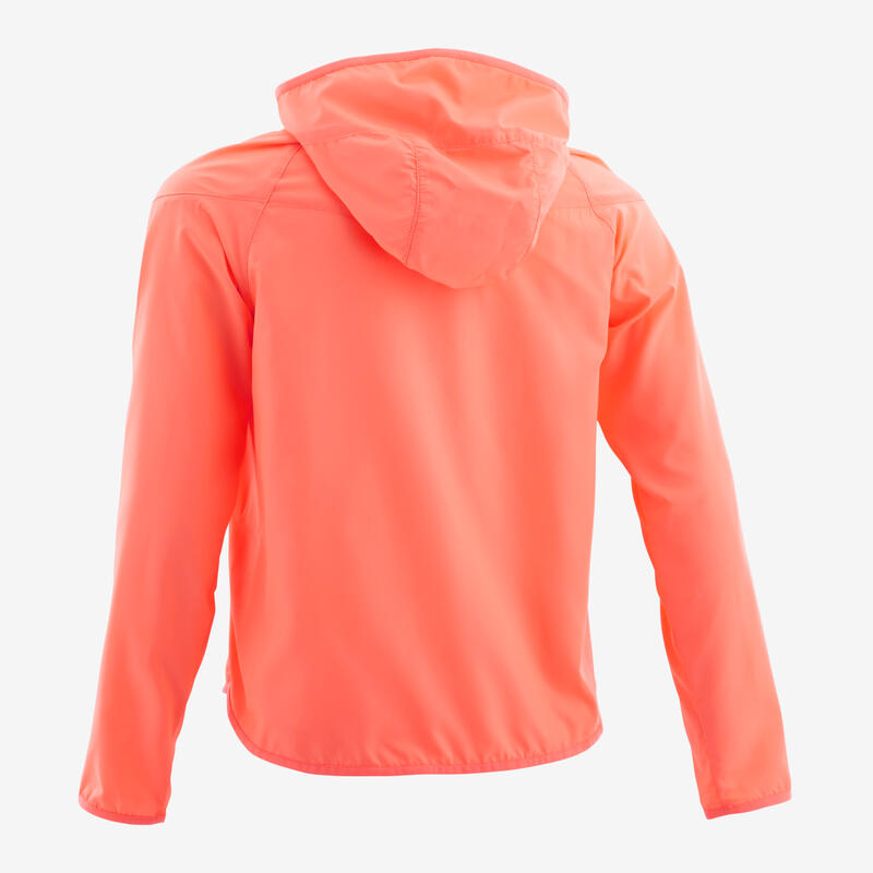 Girls' Ultra-Light Compact Breathable Gym Jacket W500 - Coral