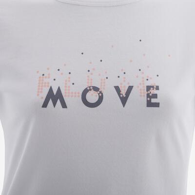Camiseta GYM 100 niños blanco