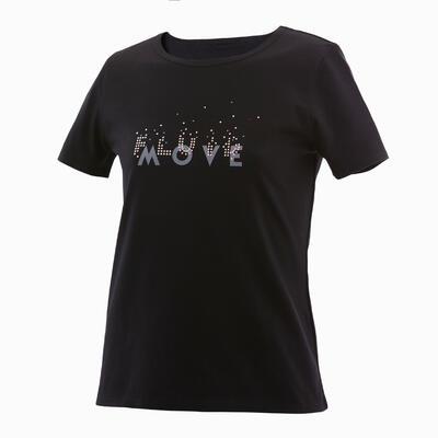 Camiseta básica niños estampado gráfico negro