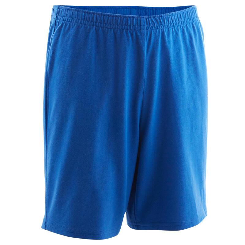 Short basique coton bleu ENFANT