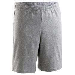 Shorts 100 Gym Basic Baumwolle Kinder grau