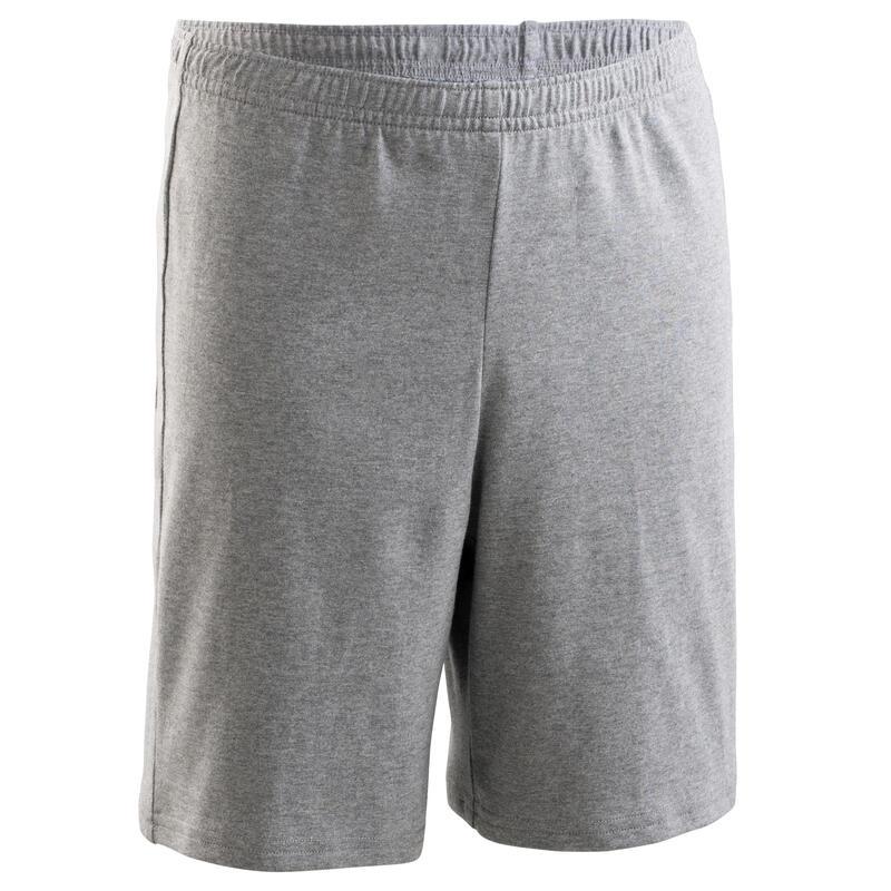 Short enfant coton - Basique gris