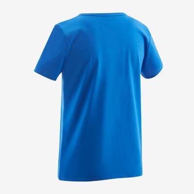 Boys' Short-Sleeved Gym T-Shirt 100 - Blue/Print