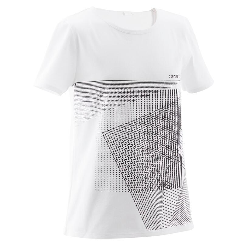 T-shirt enfant coton - Basique blanc avec motifs