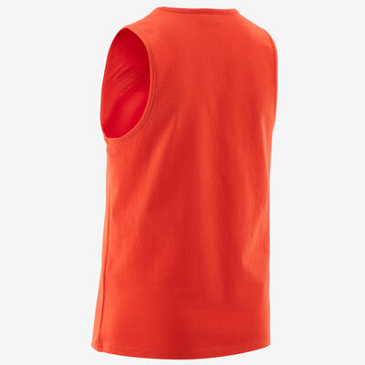 Boys' Gym Tank Top 100 - Red/Black Print