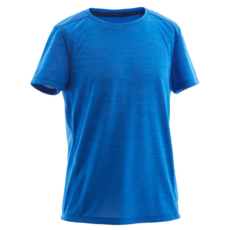 T-shirt enfant synthétique respirant - 500 bleu