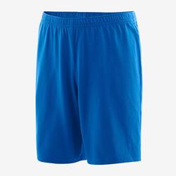 Shorts Basic Baumwolle 100 Gym Kinder blau