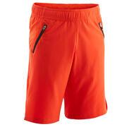 Boys' Breathable Gym Shorts W500 - Red