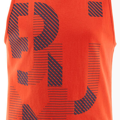 Kids' Basic Tank Top - Red Print