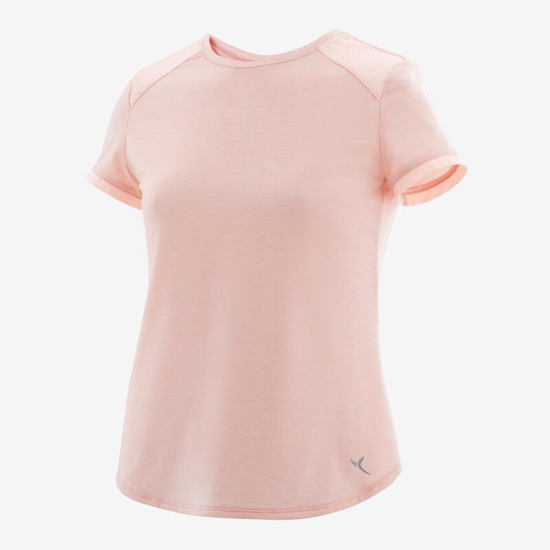 Girls' Breathable T-Shirt - Light Pink/Print