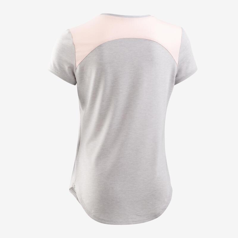 T-shirt respirant imprimé gris clair fille