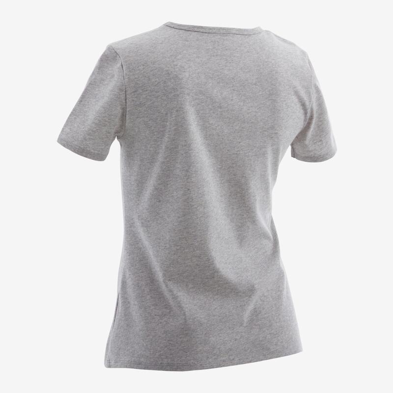 T-shirt basique enfant imprimé graphique gris clair