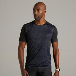 Kiprun Light Men's Running Breathable T-Shirt - Black Graph