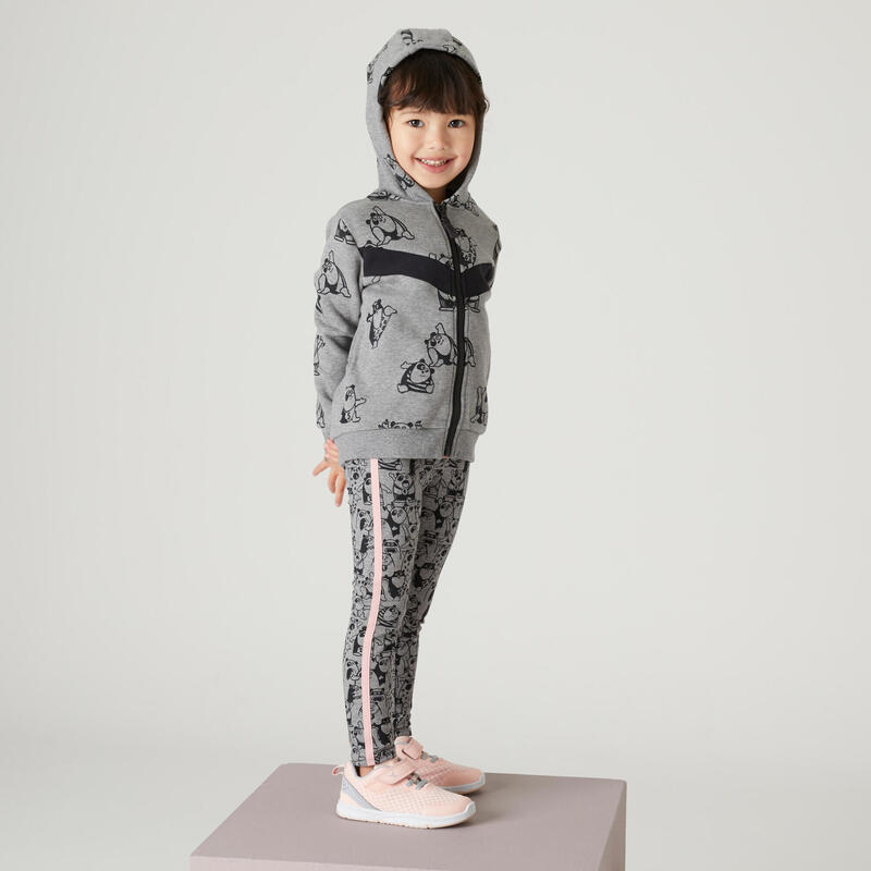 Leggings cálidos gris/rosa Gimnasia Infantil niños
