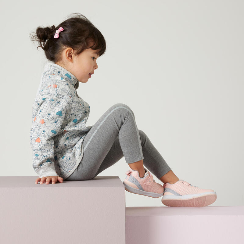 Leggings transpirables gris/azul Gimnasia Infantil niña