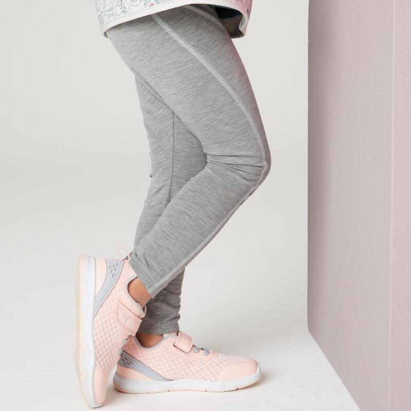 Legging fille synthétique respirant - 500 gris de 1 an à 6 ans