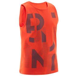 T-shirt sem Mangas de Ginástica Básica CRIANÇA Vermelho Estampado