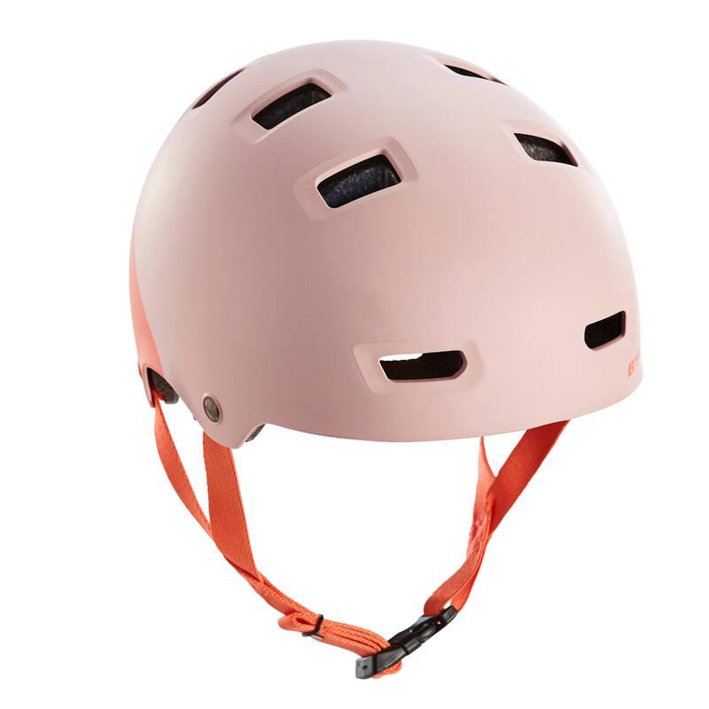 DĚTSKÉ CYKLISTICKÉ HELMY Cyklistika - DĚTSKÁ HELMA TEEN 520XS RŮŽOVÁ BTWIN - Cyklistické vybavení