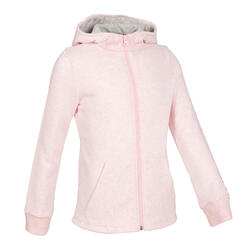 Girls' Warm Fleecy Gym Hoodie 100 - Pink