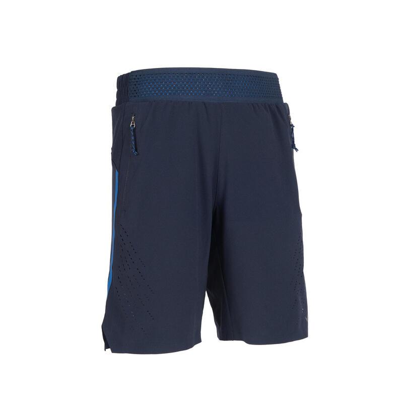 Boys' Breathable Technical Gym Shorts W900 - Navy Blue