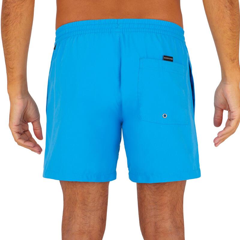 Bañador Quiksilver Corto Surf Hombre Azul Liso