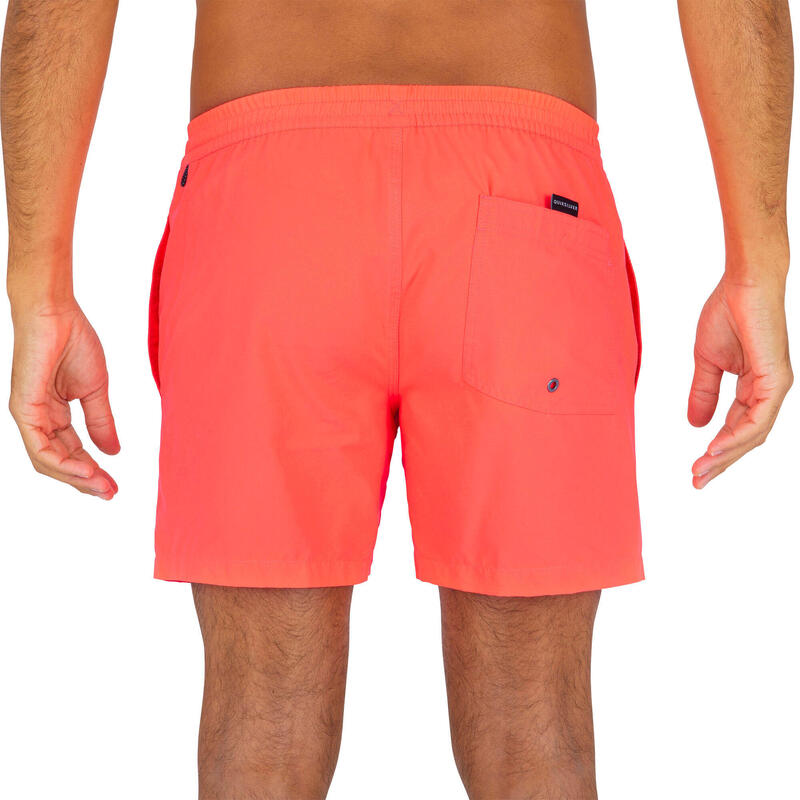 Bañador Quiksilver Corto Surf Hombre Liso Naranja
