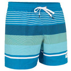 Calções de Surf Curtos Homem Azul às Riscas