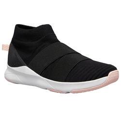 Fitnessschoenen voor dames 500 zwart zonder veters