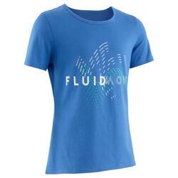 T-shirt de Ginástica Básica Criança Lavanda Grafismo Estampado