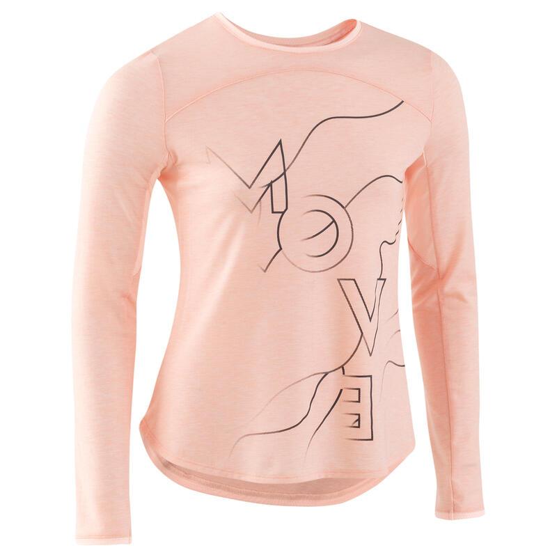 Camiseta manga larga transpirable rosa niños