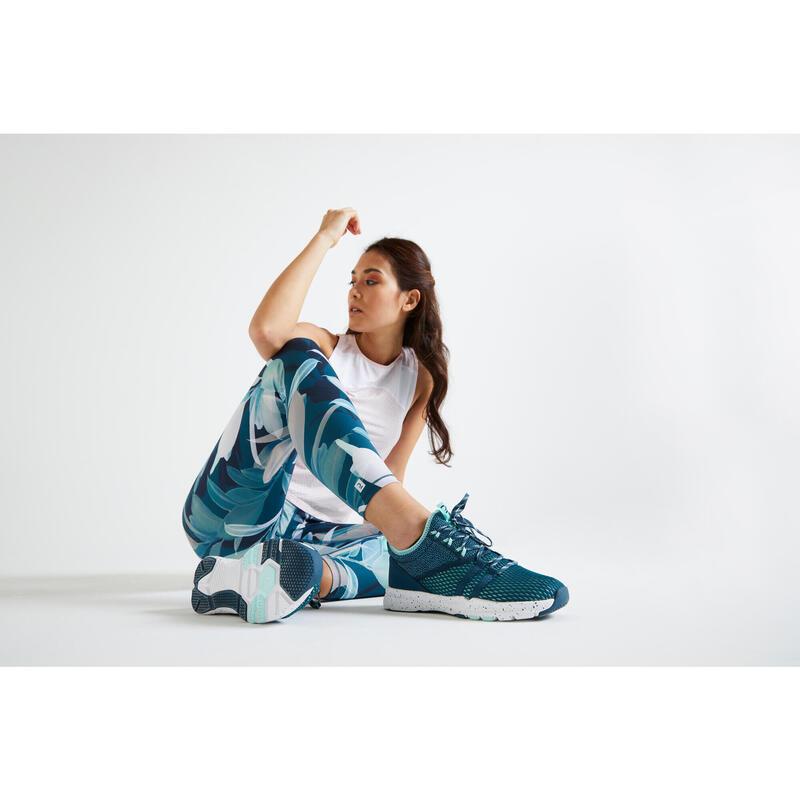 Dámské kotníkové fitness boty 140 zelené