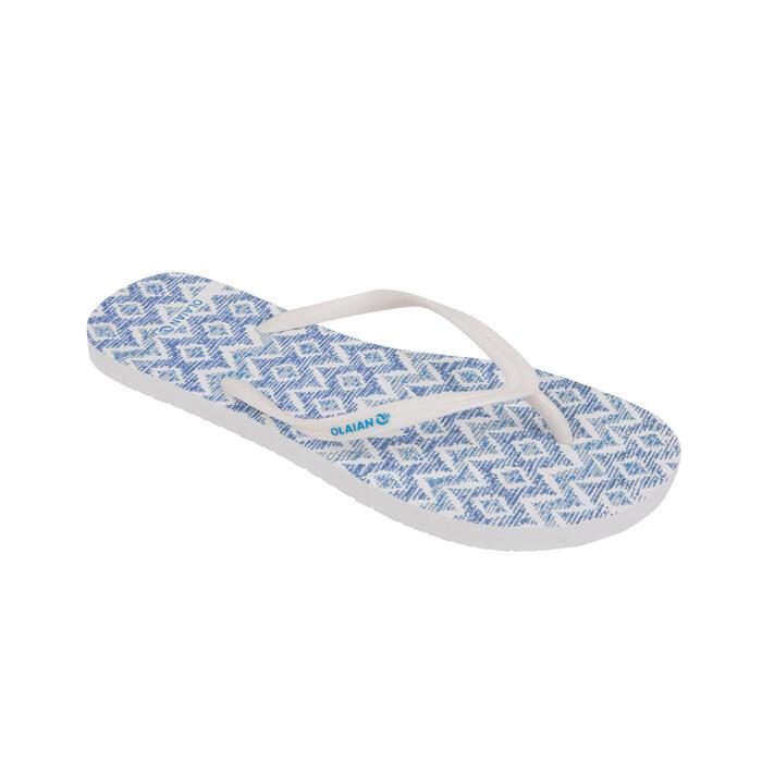 女款夾腳拖鞋120-藍色/點彩款