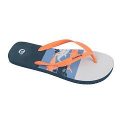 男款夾腳拖鞋120-灰色/鯊魚款