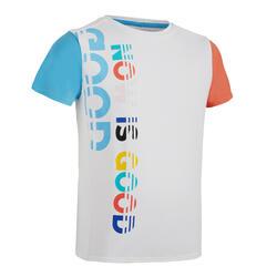 兒童款短袖透氣跑步T恤AT 300 - 白色