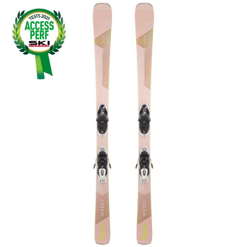SKI DE PISTE FEMME AVEC FIXATION / CROSS 950+ ROSE
