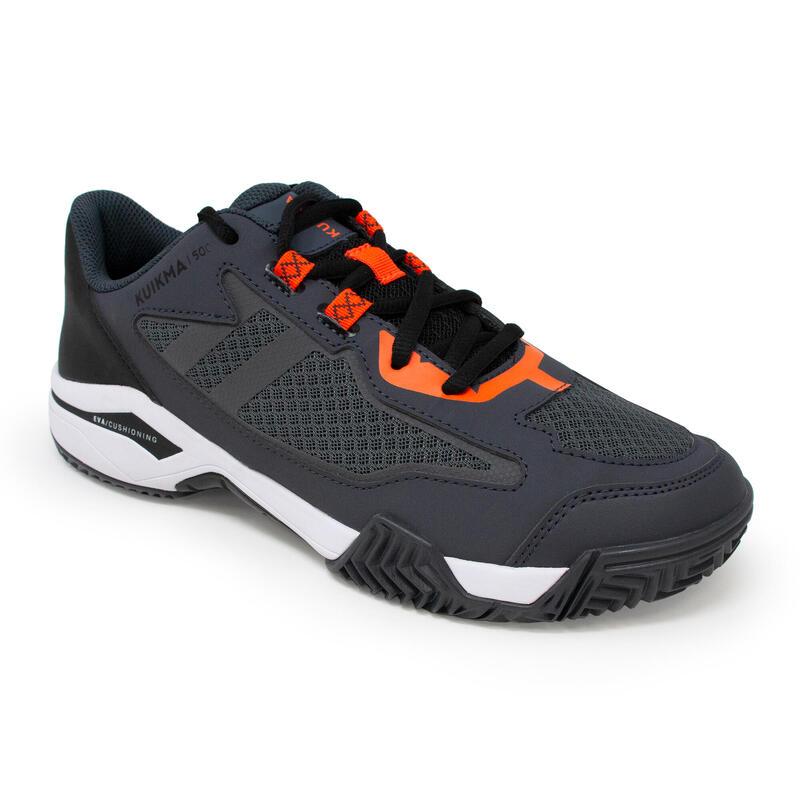 Padelschoenen voor heren PS 500 grijs/zwart