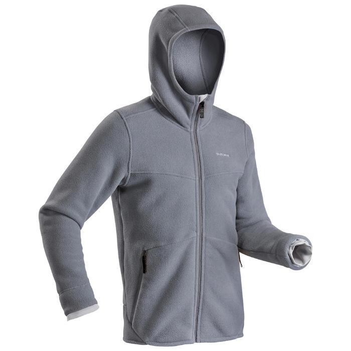 男款極致保暖健行刷毛外套SH100