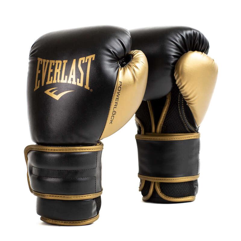BOXKESZTY# Box és harcművészet - Kesztyű POWERLOCK fekete,arany EVERLAST - Védőfelszerelés