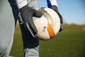 zoom sur le ballon de soccer