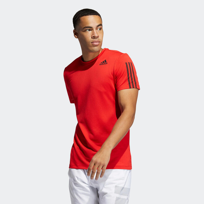 T shirt Adidas Technique Fitness rouge