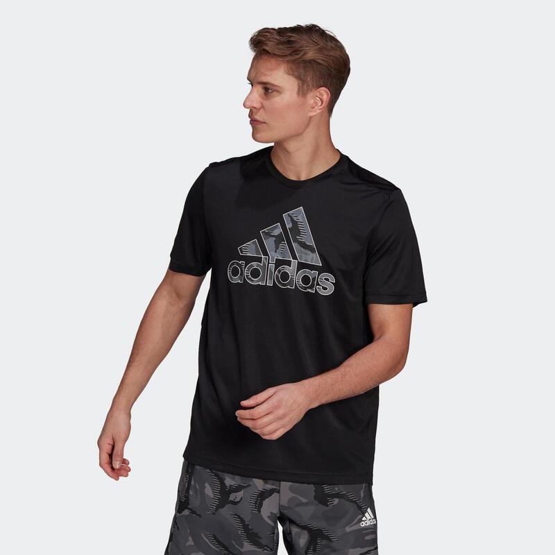 T shirt Adidas fitness noir gros logo