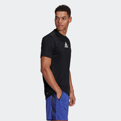 T shirt Adidas Fitness noir 3 bandes